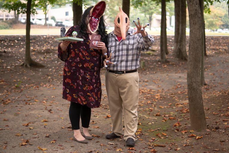 infomedia employees dressed as Beetlejuice characters