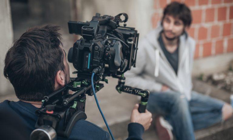 camera man filming actor