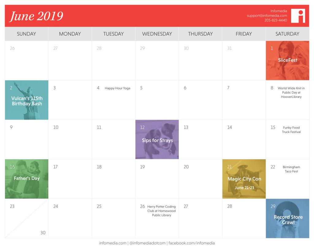calendar of birmingham events in june 2019